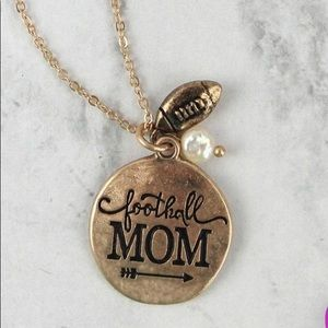 Jewelry - GOLDTONE 'FOOTBALL MOM' NECKLACE AND EARRING SET